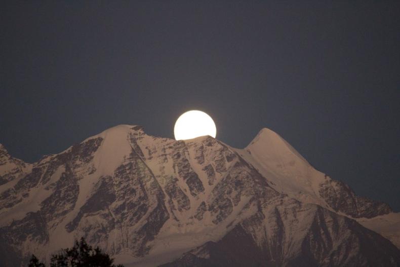 The Moonrise at Barnala Taal