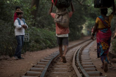 Railway line in Matheran