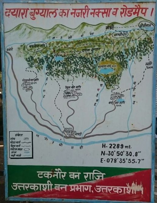 Map of Dayara Bugyal