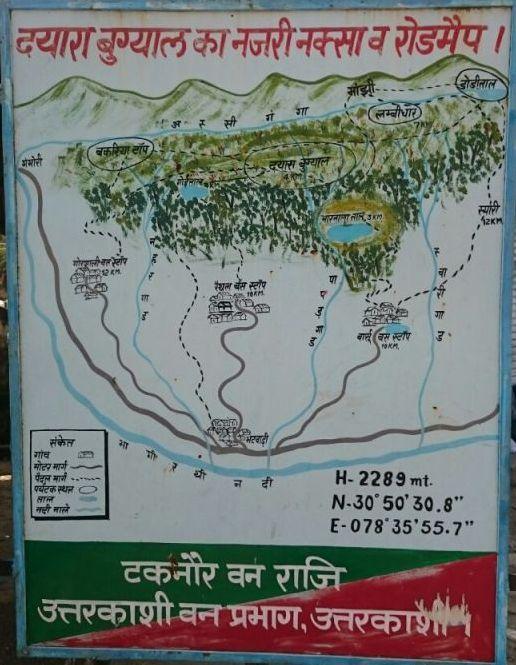 Map of Dayara Bugyal