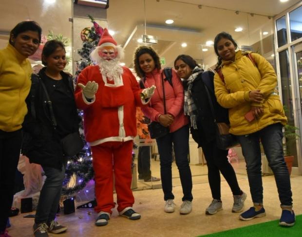 Christmas time with Santa