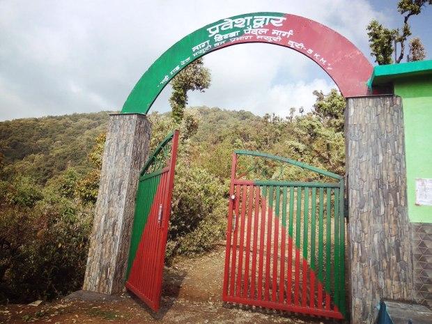 Enterance for the Nag tibba Hill top